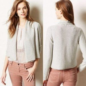 Anthro Knitted and Knotted Sequin Flurry Cardigan